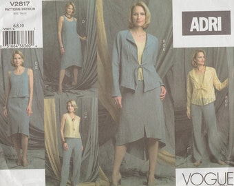 Vogue 2817 / Designer Pattern By Adri / Jacket top Dress Skirt And Pants Wardrobe / Sizes 6 8 10