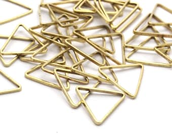 Brass Triangle Ring, 50 Raw Brass Triangles (11x11x11mm) Bs-1164