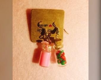 Strawberry milk earrings