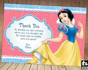 Snow White Thank you card