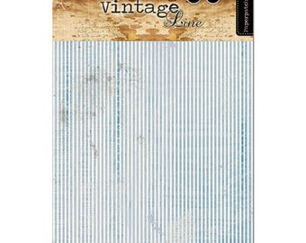 Blue stripe decoupage paper by  Studio Light, Pretty thin decoupage Summer paper for MDF, Decoupage paper for Beach theme makes