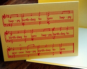 Gocco Screenprinted Birthday Card