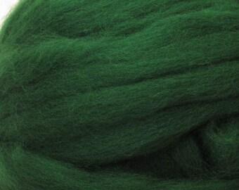Dyed Shetland Natural Spinning Fiber / 1oz - Forest