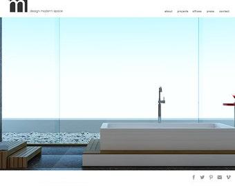 WordPress Website Web-Design für Designer Künstler-Portfolio-Boutique-benutzerdefinierte Web-Design vorgefertigte Webseite Gestaltung Wordpress Website-design