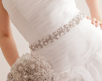 Swarovski Belt - Swarovski Sash- Bridal Belt - Bridal Sash - Wedding Belt - Wedding Sash - Crystal Belt - Crystal Sash - Charlize