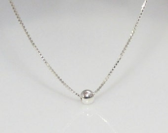 Tiny Dot Necklace, Sterling Silver Necklace, Silver Necklace, Layering Necklace, Gift for Her, Gift for Mom, Bridesmaid Necklace