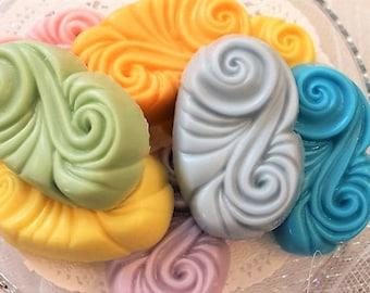 Goat Milk Arabesque Soap, Handmade Goat Milk Soap, Glycerin Soap, Swirl Soap, Decorative Soap, Gift for Her, Novelty Soap, Choose your scent