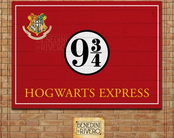 Platform 9 3/4 Printable Sign | Harry Potter Party | Poster | INSTANT DOWNLOAD - Hogwarts Express | Hogwarts Train