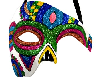 Day of the Dead Rainbow Masquerade Mask