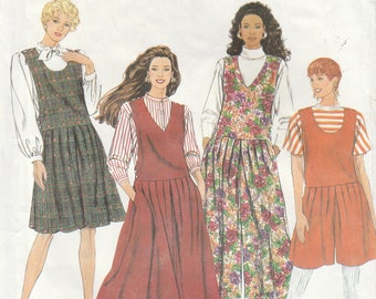 Women's Jumper Pattern, Culottes Pattern, Split Skirt Pattern, McCall's, Sewing Pattern, Women's Size 6/14, Uncut, 7434, FREE SHIPPING