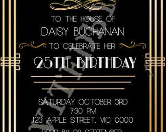 Great Gatsby/Art Deco Invitation