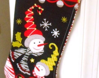 Christmas Stocking, Quilted Christmas Stocking, FREE SHIPPING, Christmas gift, Stocking Stuffer