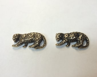 Stamping - Metalized Plastic Leopard - Set of 2