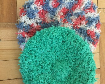 Thin scrubbies!!! They are made with cotton scrubby yarn.