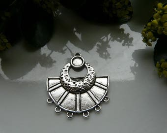 Pair pendant 37mm silver connector