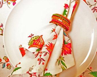 French Provence Napkins, Floral Napkins, French Cloth Napkins