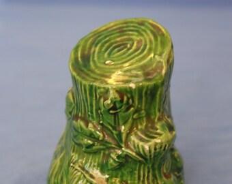 Vintage Ceramic still bank tree stump