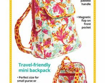 Back At Ya 2.0 Travel Friendly Mini backpack by Annie  - Paper Printed Pattern