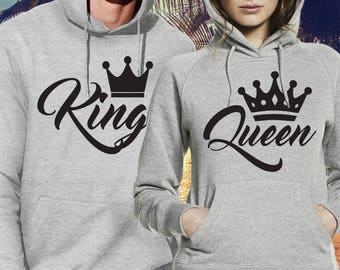 king and queen hoodies / king and queen sweatshirts / king queen hoodies / king queen shirts / king and queen sweatshirts / couple hoodies