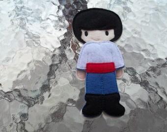 Boy Felt Doll and outfit :Boy Doll. Imagination. Pretend Play.