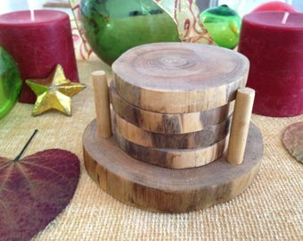 Wooden Coasters - Drink Coasters, Wedding Coasters, Wood Rounds