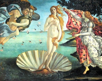 Laminated placemat Botticelli 'The birth of Venus'