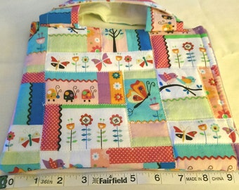 spring quilt ipad mini cover with handles