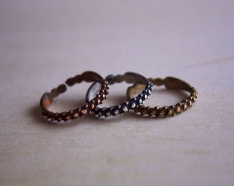 Simple Band Ring Siver Bronze Gold. Gift for her