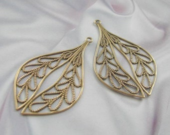 Antique Gold Finish Filigree Findings  06419 AGP