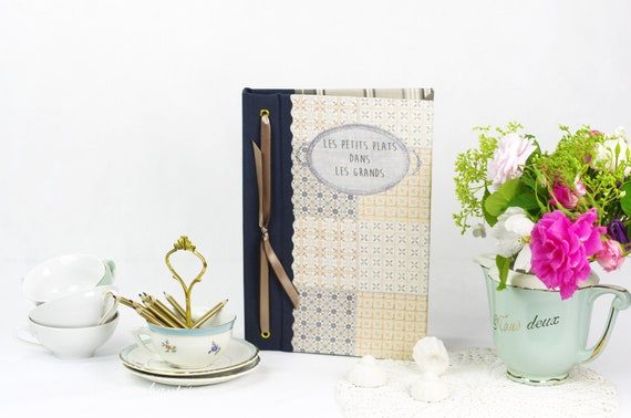 French recipes book note book organizer recipies Menu linen mothers' Day
