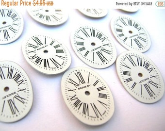 Supply Clearance Watch Face Lot - Oval Watch Face Lot - Steampunk Supplies - Oval Watch Faces - Roman Numeral Watch Face