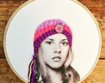 Stevie - hand embroidery hoop art