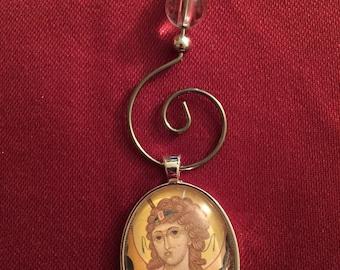 ST RAPHAEL the ARCHANGEL, Icon, Christmas, Gift, Catholic, Angel, Religious gift, Ornament, Orthodox, Byzantine