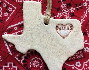 Dallas Home Ornament, Dallas Texas Ornament, Dallas Christmas Ornament
