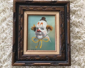 Sale - Framed clown painting