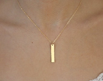 Gold Necklace, Gold Bar Necklace, Dainty Gold Necklace, Gold Jewelry, Bridesmaid Gifts, Gifts for Her, Birthday Gift, Best Friend Gift