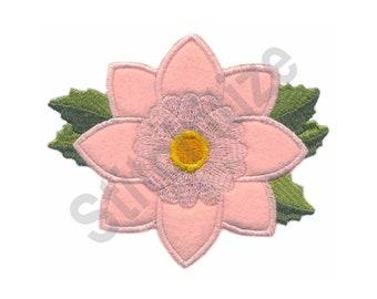 Flower Applique - Machine Embroidery Design, Dahlia