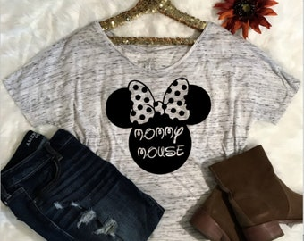 Mommy Mouse slouchy scoop neck tee