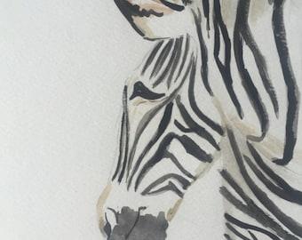 Blade of Zebra in watercolor