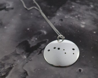Big Dipper Pendant and Earring set: A matching pair of Big Dipper, or Plough pendant and earrings