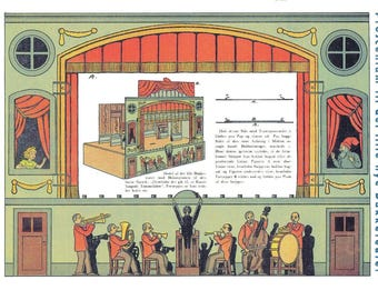 paper  toy theatre model 1927 printable instant download pdf
