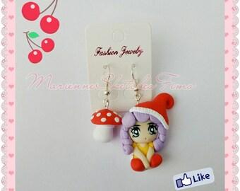 Handmade Earrings Little Memole Polymer Clay