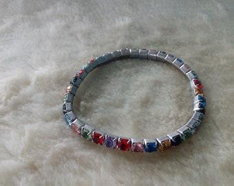 Thin Colourful Bead Bracelet