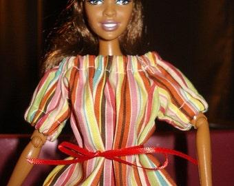 Fashion Doll Coordinates - Color striped Peasant blouse - es7