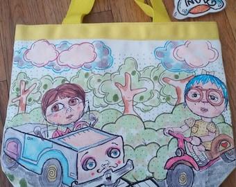 Mini Tote Bag By: My Art Is Indie