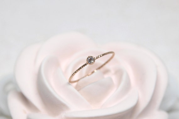 October Birthstone Silver Ring,Birthstone Stackable,Thin Silver Ring,Rose Gold Filled Birthstone Ring,Skinny Ring,Rainbow Moonstone Ring by Etsy