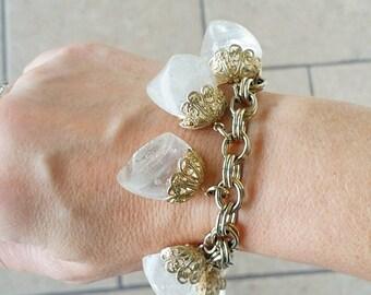 Vintage Lucite Charm 70's Bracelet