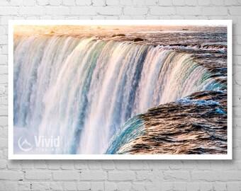 Niagara Falls photo, waterfall photography, waterfall wall art, matted prints, waterfall wall decor, 20x30 frame, framed print, 9x9 12x12