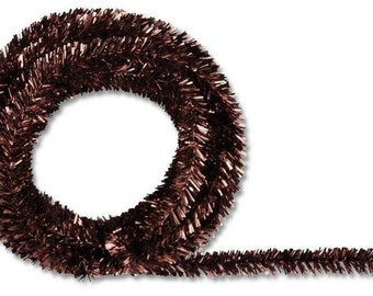 Chocolate Metallic Tinsel Roping XG447840 (25 Feet)