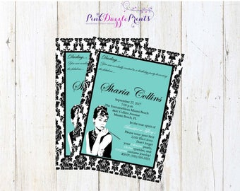 5x7 Breakfast at Tiffany's Bridal Shower Printable Invitation- Any Occasion